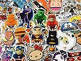 Unbekannt 100 pcs Aufkleber, Bombe Aufkleber Zufallsmuster, Comicfiguren, Manga Sticker Bomb