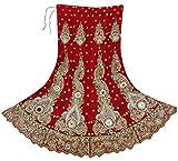 Vintage Hand Perlen Indische Frauen Lange Net Rock Bridal