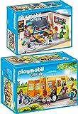 PLAYMOBIL City Life 2er Set 9455 9419 Klassenzimmer Geschichtsunterricht + Schulbus