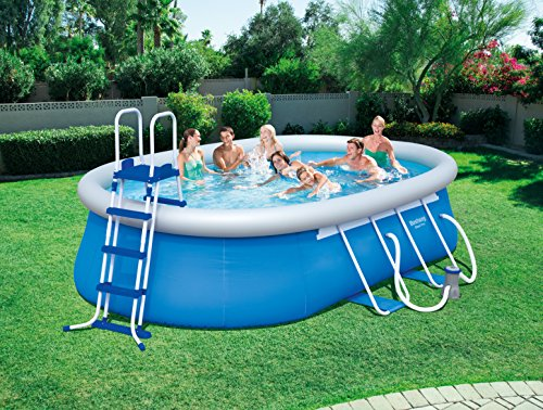 bestway steel pro oval frame pool set. Black Bedroom Furniture Sets. Home Design Ideas