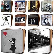 Banksy impresión posavasos Pack de 10–nuevos conjuntos de Art posavasos vajilla de muebles, 11cm x 11cm
