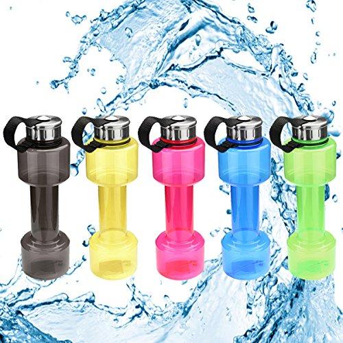 LaDicha 750Ml Hantelform Wasserflasche Sport Trinken Kessel Gymnastik Protein Shake Weight - Grün -