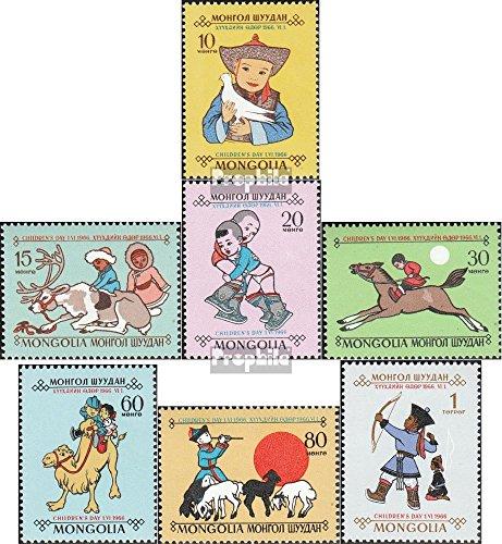 Prophila Collection Mongolei 445-451 (kompl.Ausg.) 1966 Tag des Kindes (Briefmarken für Sammler)