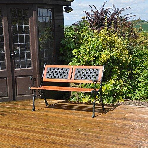 Kingfisher F2PB Gartenbank aus Holz, für 2 Personen - 4