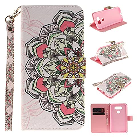 LG G5 Case,LG G5 Cover,Wallet Case for LG G5,Cozy Hut Fashion Beautiful Art Painted Pattern Flip PU Leather Fold Wallet Pouch Case Premium Leather Wallet Flip Case with Stand Credit Card ID Holders Case Cover for LG G5 -
