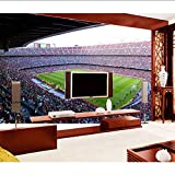 Hhlwl Barcelona Estadio De Fútbol Deporte 3D Wall Murals Wallpaper Para Wall Living Room 3D Mural De Fútbol 3D Wall Mural Sticker-300Cmx210Cm