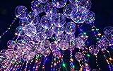 Upxiang 20inch leuchtender geführter Ballon, LED-heller heller Ballon, transparente runde Blase-Dekoration-Partei-Hochzeit