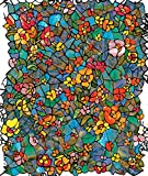 d-c-fix 346-0431 PVC-Klebefolie, selbstklebend, Glasmalerei-Effekt, Stil: venezianischer Garten, 45x 200cm