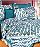 Manish fabrics with 2 Pillow Covers Cotton Printed Bedsheets For Double Amazon deals