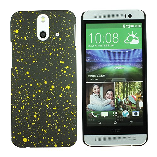 Heartly Night Sky Glitter Star 3D Printed Design Retro Color Armor Hard Bumper Back Case Cover For HTC One E8 Dual Sim - Sweet Yellow  available at amazon for Rs.109
