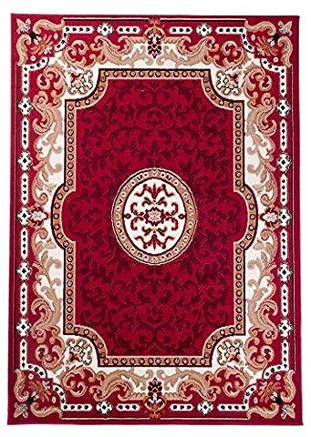 Tapis Conforama Rouge - Petit Tapis De Salon - Rouge Crème