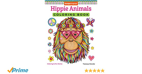 hippie animals coloring book coloring is fun amazoncouk thaneeya mcardle 9781497202085 books - Hippie Coloring Book