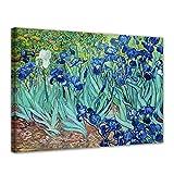 Bilderdepot24 Kunstdruck - Alte Meister - Vincent Van Gogh - Iris - 120x90cm XXL Einteilig - Leinwandbilder - Bilder als Leinwanddruck - Bild auf Leinwand - Wandbild