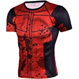 Cosfunmax Superhero Shirt Compression Sports Shirt Runing Fitness Gym Men's Base Layer (DPS, XS)