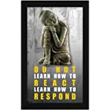 ArtX Paper Lord Buddha Motivational Quote Wall Art Painting, Multicolor, Traditional, 8.5X13.5 in, Set of 1