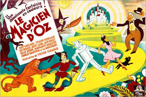 asbild 180 x 120 cm: Der Zauberer von Oz von French School/Bridgeman Images - Wandbild, Acryl Glasbild, Druck auf Acryl Glas Bild ()