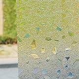 Lifetree 006 Selbstklebend ohne Klebstoff Fensterfolie 3D Statisch Folie Sichtschutzfolie 45 * 200CM