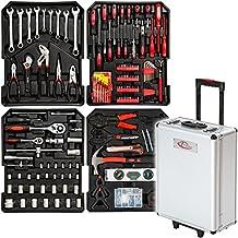 TecTake maletín con herramientas 251pc piezas maleta trolley caja martillo alicates