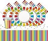 Unique Party bpwfa-93Rainbow party set da tavola per 24persone