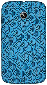 Timpax Light Weight Hard Back Case Cover Printed Design : Colourful Pattern.Specifically Design For : Motorola Moto-E ( 1st Gen )