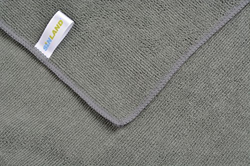 Sinland ultra saugfähiges Mikrofaser Hunde Handtuch 75 x 127 cm Grau - 4