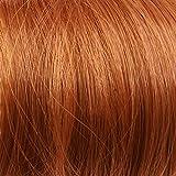 Prettyland - wild gestylter groß Dutt Haarteil Zopf Haarband Scrunchie Haargummi - R01 kupfer rot