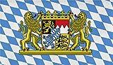 normani Flagge Großformat 250 x 150 cm wetterfest Fahne in 16 verschiedenen Ausführungen mit Ösen Farbe Bayern