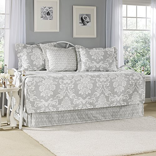 Laura Ashley Heirloom Bettwäsche-Set, gehäkelt, Grau Landhausstil Daybed grau -