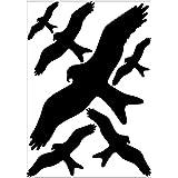 6x WARNVÖGEL AUFKLEBER Avery Zweckform Fenster Schutz Sticker Vogelschäuche
