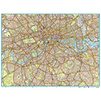 """A-Z London Master Plan - Centre - 40"""" x 30.25"""" Laminated Wall Map"""