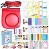 Neewer 56-en-1 Kit Accessoires pour Fujifilm Instax Mini 70 (Rouge): Housse avec Bandoulière,Cadres,Album,Filtres,Ruban Adhésif Autocollant Coloré Photos