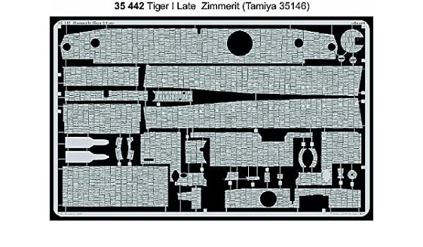PE parts for Zimmerit Tiger I late TAMIYA 1//35 Eduard 35442