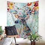 Tapestry, Hippie Tapestry, Wall Hanging Decorativo, Copriletto Matrimoniale,Psichedelico,Asciugamano da Spiaggia per Pittura murale in Velluto Multi-Funzionale in Velluto Nordico, 200x150cm, 004