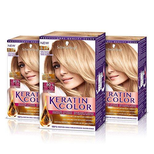 Keratin color cream le meilleur prix dans amazon savemoney keratin color cream coloracin del cabello 834 rubio soleado 3 unidades fandeluxe Images