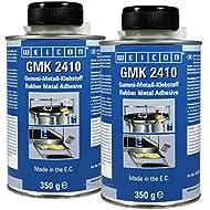 2x WEICON® 350g GMK 2410 Klebstoff für Gummimatten | Gummi-Metall-Klebstoff