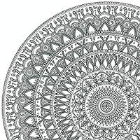 Mandala GIGANTE para Colorear Adultos y Niños de PAINT&RELAX | Lámina AIRE de la Colección LOS CUATRO ELEMENTOS 50x70 cms | Mandala Grande para pintar y relajarse | Decorativo.