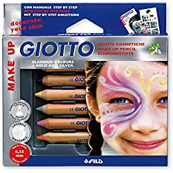 Giotto, Set lápices cosméticos Make up glamour colors+gold and silver