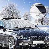 Frontscheibenabdeckung, phixilin Auto Windschutzscheibe Frostschutz Scheibenabdeckung Faltbare Abnehmbare Frontscheibe Abdeckung perfekte gegen Schnee, EIS, Frost und UV-Strahlung