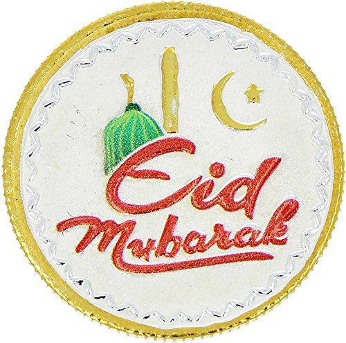 LGW Eid Mubarak Silver Precious Coin for Unisex (10Grams)