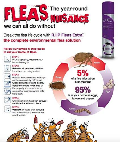R.I.P Extra Flea Spray Household Insecticidal Spray 600ml
