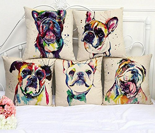 Stop N Shop Designer Striped Jute Cushion Cover(Pack of 5) 16