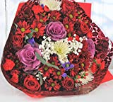 Red & Purple Large Luxury Flowers Delivered – Fresh...