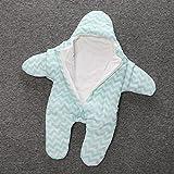 Fengh Baby-Schlafsack aus Baumwolle, kleine Seestern, Winter, dickere Modelle, warm, leichtes Gewicht
