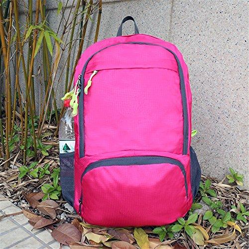 Raggiungibile a piedipieghevolezainoleggeroall'apertoalpinismoborsaimpermeabileportatileborsadaviaggio(25L), nero Pink
