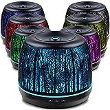 SALKING Aroma Diffuser, 500ml Metall Aromatherapie Diffusor für ätherische Öle, 7 Farbe Duftlampe Vintage Diffusor Luftbefeuchter für Baby, Zuhause Büro Oder Yoga MEHRWEG