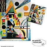 Geschenkset: 1 Poster Kunstdruck (80x60 cm) + 1 Mauspad (23x19 cm) - Wassily Kandinsky, Balancement, 1925