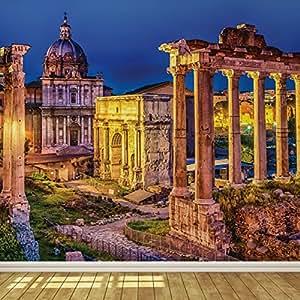 Rome ruins wallpaper mural diy tools for Amazon mural wallpaper
