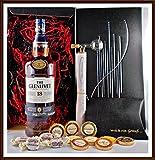 Geschenk Glenlivet 18 Jahre Whisky + Flaschenportionierer + 10 Edel Schokoladen von DreiMeister & DaJa + 4 Whisky Fudge kostenloser Versand