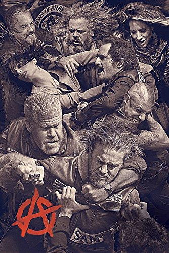 "Sons of Anarchy-Maxi Poster ""Fight, legno, multicolore"