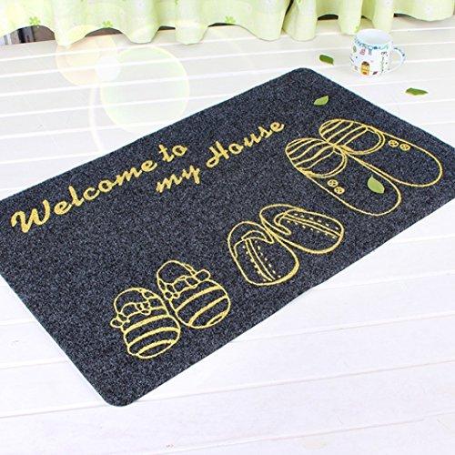 Pragoo Willkommen Mat Schuh Gedruckt Fußmatte Kühle Eingang Teppich nicht Beleg Durable 40 * 60cm (Grau) (Outdoor-eintrag Möbel)